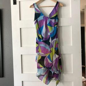 Sue Wong Multi Colored Asymmetrical Dress